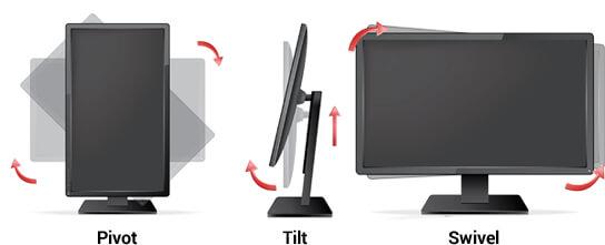 Ergonomie-Funktionen bei Monitoren