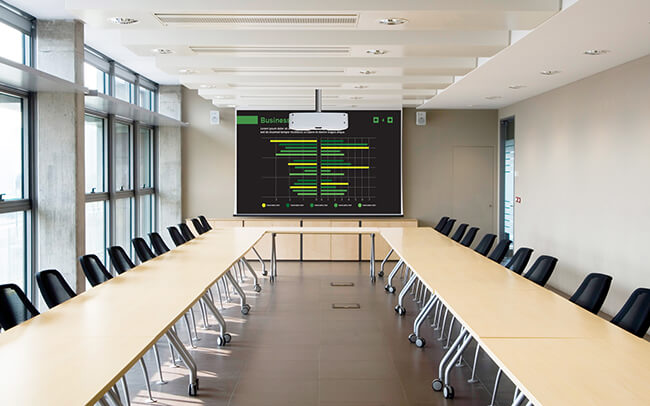 Projektorer för företag och presentationer