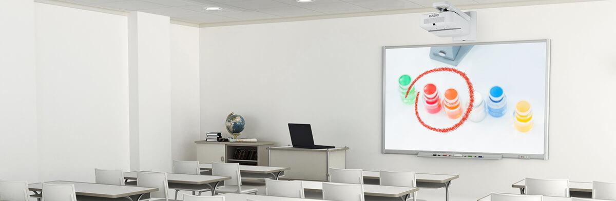 Interaktiv undervisning utan krångel - energisparande Casio projektorer
