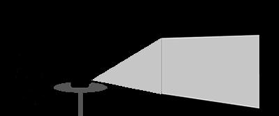 Typ av projektion | Frontprojektion
