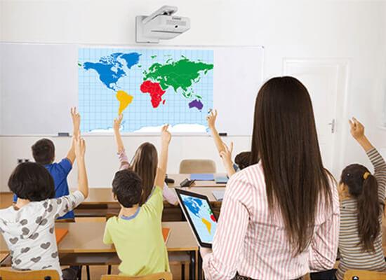 Projektorer inom utbildningsinrättningar