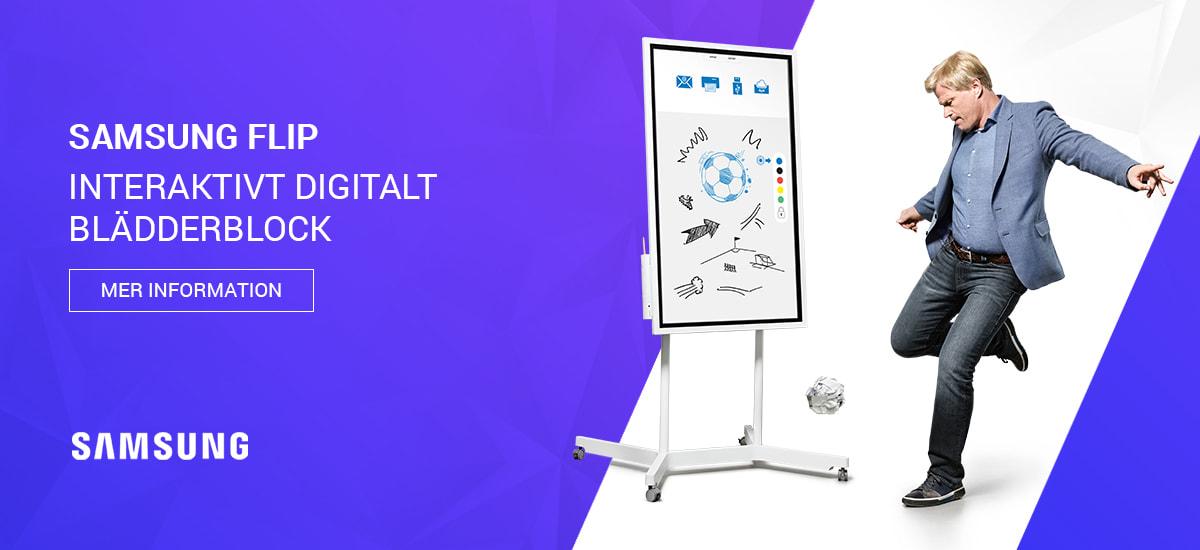 Samsung Flip - Interaktivt digitalt blädderblock